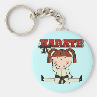 KARATE - Brunette Girl T-shirts and Gifts Keychain