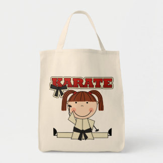 KARATE - Brunette Girl T-shirts and Gifts Tote Bag
