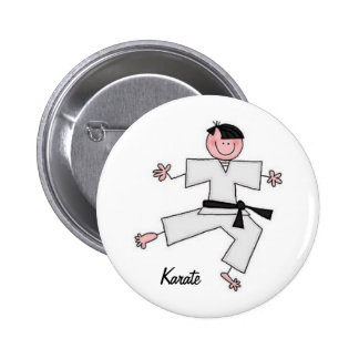 Karate cartoon Button