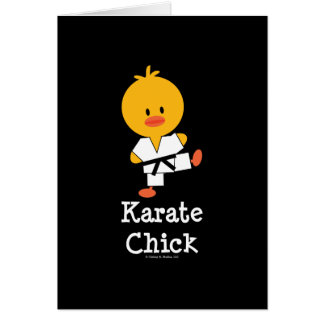 Karate Chick Greeting Card