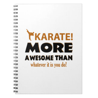 KARATE DESIGN NOTEBOOKS