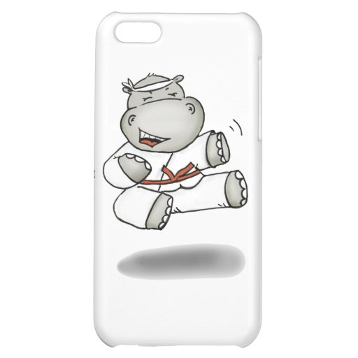 Karate Hippo iPhone 5C Cover