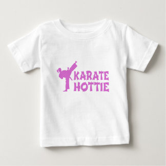 Karate Hottie - female martial artist pink Baby T-Shirt