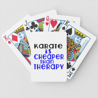 Karate Is Cheaper  Than Therapy Bicycle Playing Cards