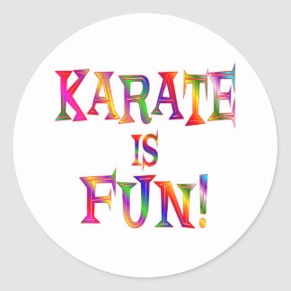 Karate is Fun Classic Round Sticker