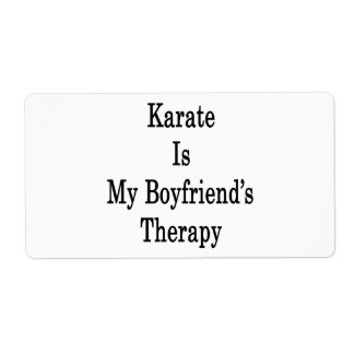 Karate is My Boyfriend's Therapy Custom Shipping Label
