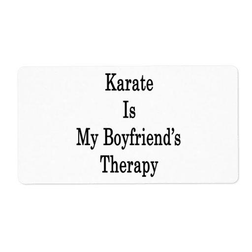 Karate is My Boyfriend's Therapy Custom Shipping Label