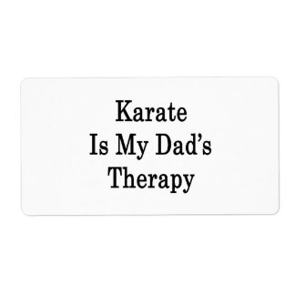 Karate Is My Dad's Therapy Personalized Shipping Labels