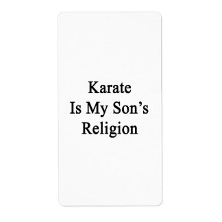 Karate Is My Son's Religion Custom Shipping Label