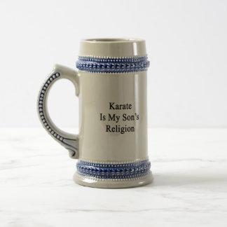 Karate Is My Son's Religion 18 Oz Beer Stein