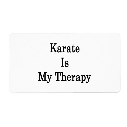 Karate Is My Therapy Personalized Shipping Labels