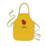 Karate Kat ladybug apron--to personalize