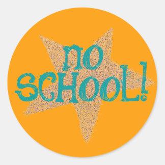 "Karate Kat ""no school"" sticker"