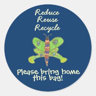 Karate Kat recycle sticker