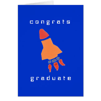 Karate Kat rocket graduation card