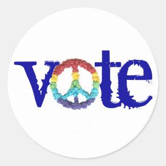 """Karate Kat """"vote"""" sticker"""