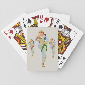 Karate Kicking, Martial Arts,  Customizable Playing Cards