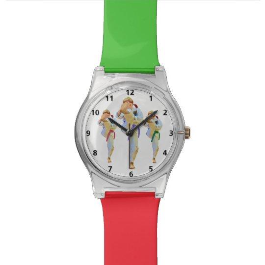 Karate Kicking Wristwatch