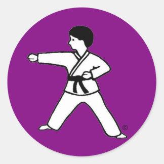 Karate Kid 1 purple stickers