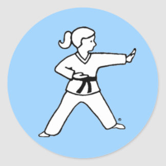 Karate Kid 4 light blue stickers