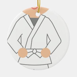 Karate Kid Ceramic Ornament