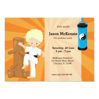 """Karate Kids 5"""" X 7"""" Invitation Card"""
