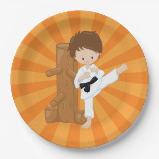 Karate Kids Paper Plate