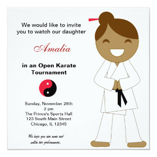 Karate Kids Tournament Card