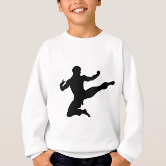 Karate Kung Fu Flying Kick Man Silhouette Sweatshirt