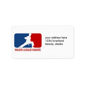Karate Personalized Address Label