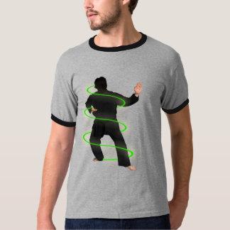 Karate man on a t-shirt
