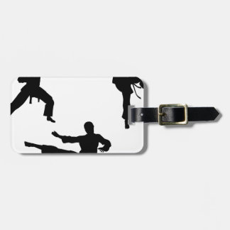 Karate Martial Art Silhouettes Luggage Tag