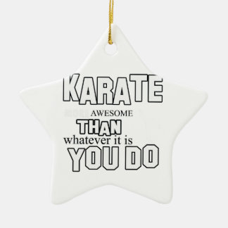 karate martial design ceramic star ornament