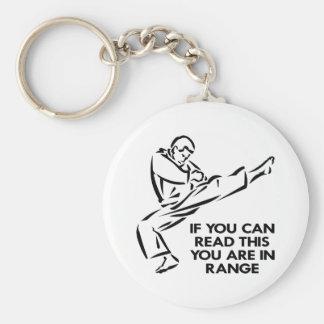 Karate, MMA, You ARE In Range Basic Round Button Keychain