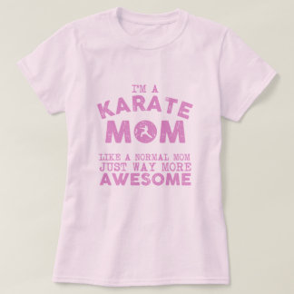 Karate Mom Vintage (Pink) T-Shirt