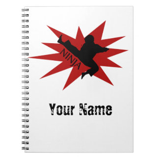 Karate Ninja Spiral Notebook
