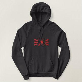 Karate Outline Embroidered Hooded Sweatshirts