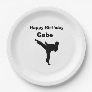 """""""Karate"""" Paper Plates 9 Inch Paper Plate"""