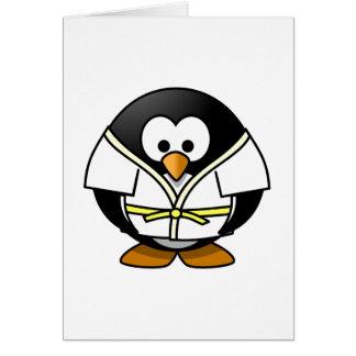 Karate Penguin Card
