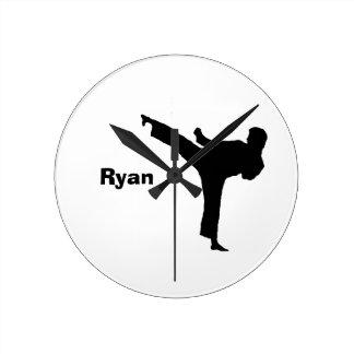 Karate Personalized Clock