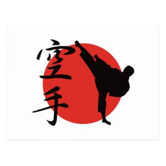 Karate Postcard