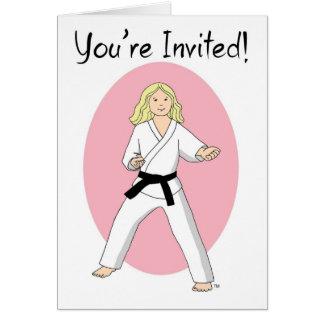 Karate Princess Invitations Martial Arts Party