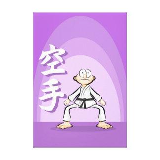 Karate sensei demonstrating a position canvas print