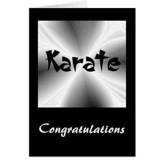 Karate Silver Congratulations Card