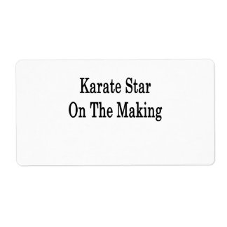Karate Star On The Making Shipping Label