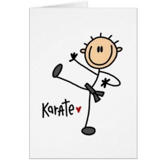 Karate Stick Figure Card