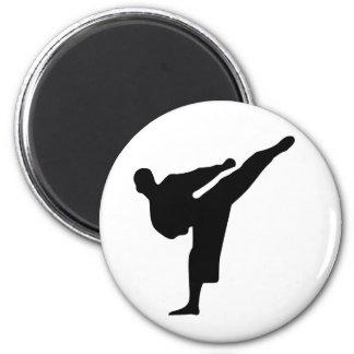 Karate / Taekwondo Kick Round Magnet