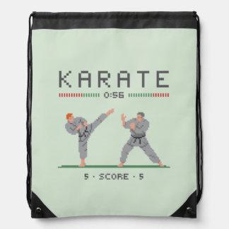 Karate Video Game Drawstring Backpack