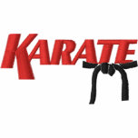 karate with black belt embroidered polo shirts