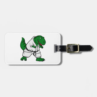 karateca t rex luggage tag
